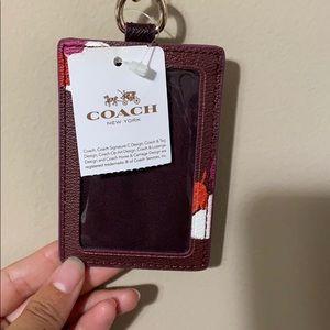 Coach Name Tag Holder